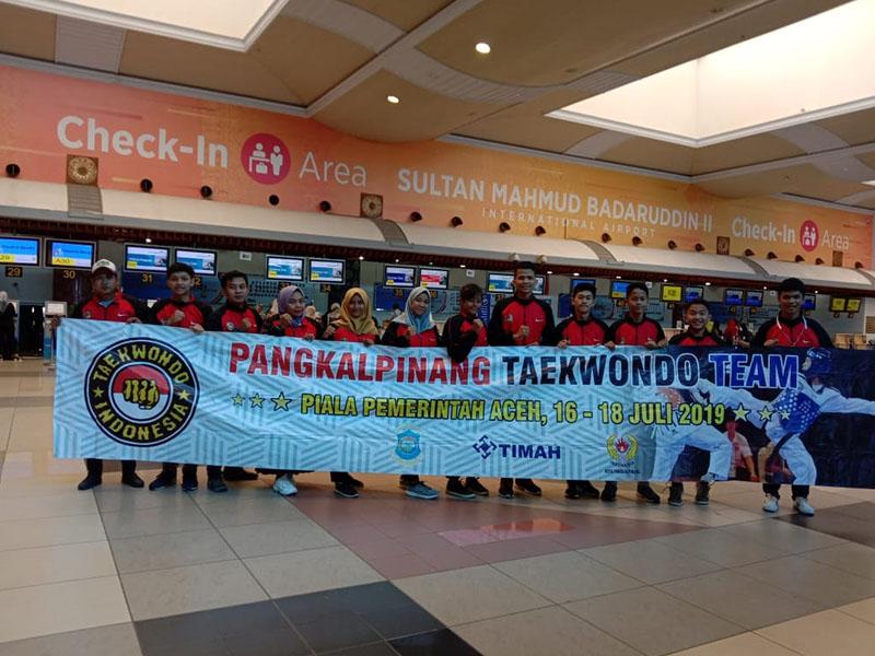 8 Atlet Taekwondo Pangkal Pinang Siap Berlaga di Aceh