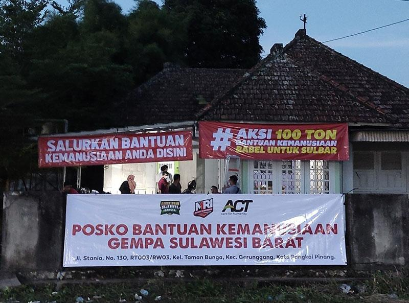 ACT Bangka Belitung Aktivasi Posko Aksi 100 Ton Bantuan Kemanusiaan untuk Sulbar