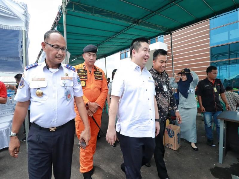Anggota DPR RI Eko Wijaya Kunjungi Posko di Bandara Depati Amir Pangkalpinang