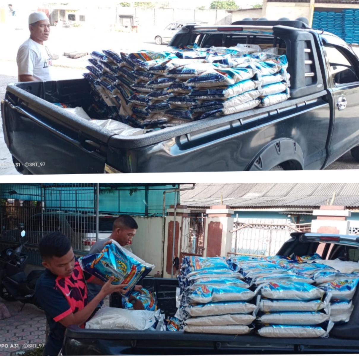 Anggota DPRD Babel Jawarno Bagikan 1,5 Ton Beras Untuk Warga Kace