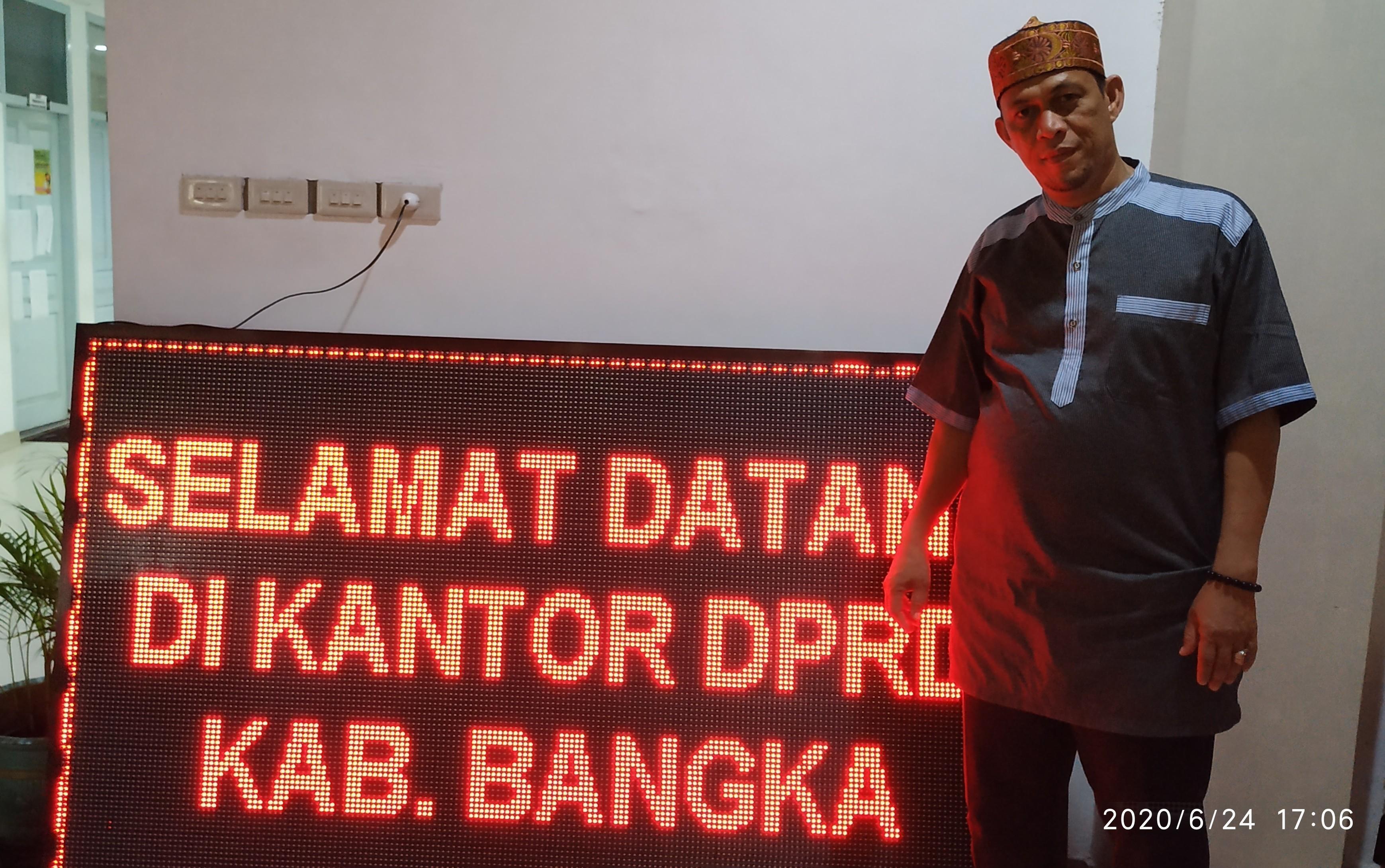 Kasubag Humas dan Protokol DPRD Bangka Fungsikan Running Text Sebagai Sumber Informasi