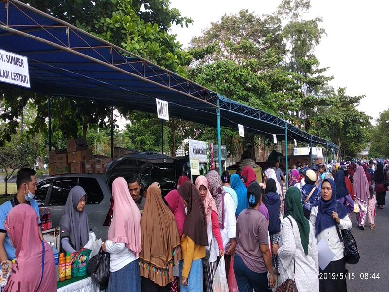 Atasi Kenaikan harga Bahan Pokok, Dinas Pangan Bangka Gelar Bazar Murah