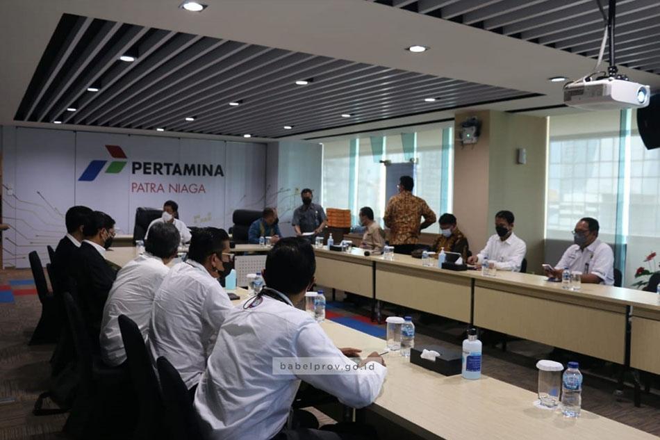 Audiensi Dengan PT. Pertamina Patra Niaga, Gubernur Erzaldi Dapatkan Solusi