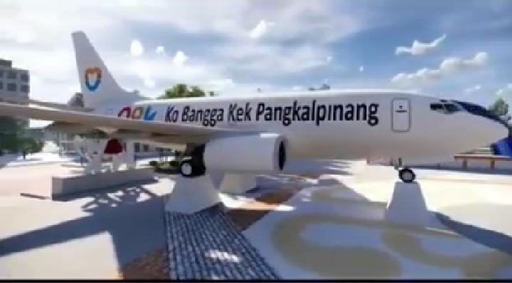 Bakal Ada Pesawat 'Mendarat' di Alun-Alun Pangkalpinang, Dijadwalkan Februari 2021