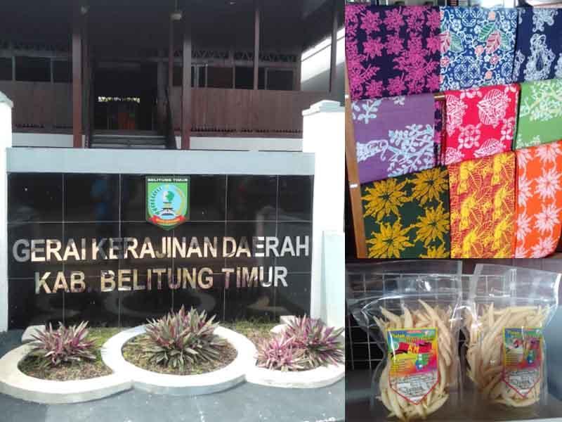 Berbagai Produk Unggulan IKM Dipromosikan di Gerai Kerajinan Daerah Beltim