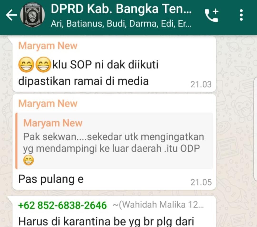 BK dan Wakil Ketua DPRD Bateng Sesalkan Percakapan Grup Internal DPRD Bateng Tersebar ke Publik