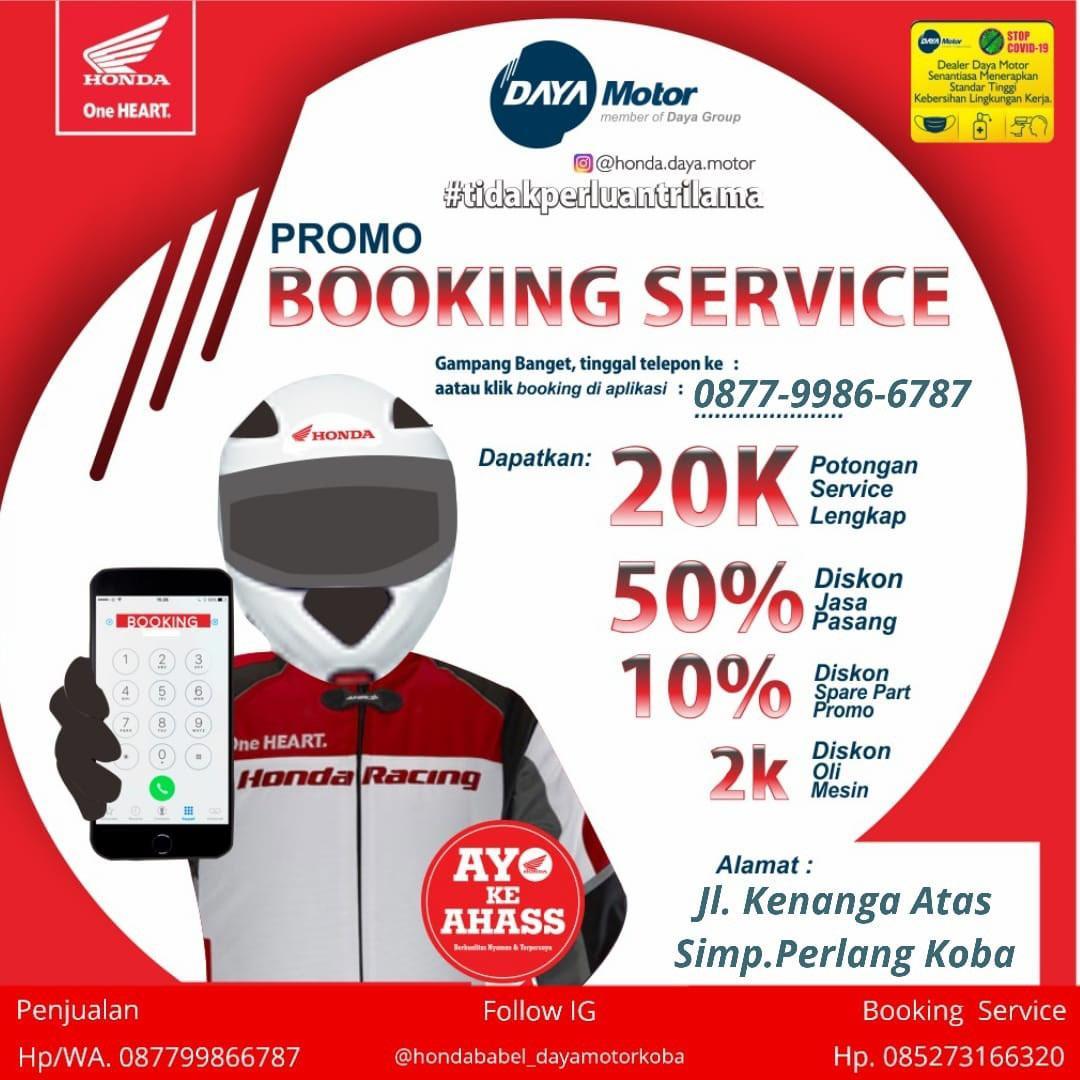 Booking Service Aman dan Nyaman di Ahhas Daya Motor Koba