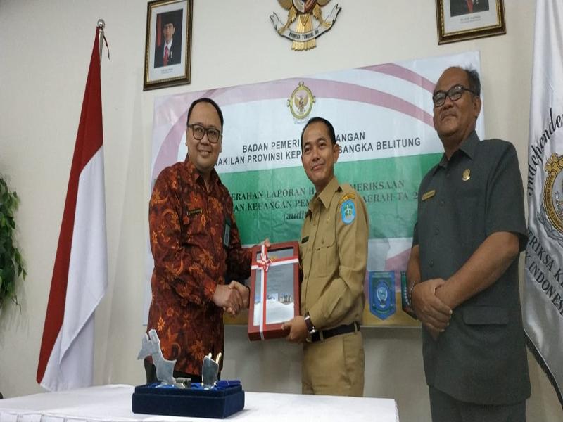BPK Serahkan LHP LKPD, Pemkab Bangka Raih Opini WTP