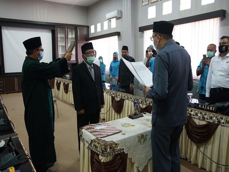 Bupati Markus Hadiri Pengambilan Sumpah Jabatan dan Pelantikan Direktur PDAM TSS Bangka Barat