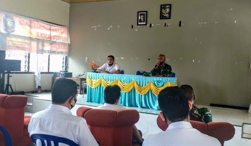 Danramil 0413-6/Sungailiat Siap Mendukung Pembentukan Satgas PDK Covid-19 Kecamatan Sungailiat