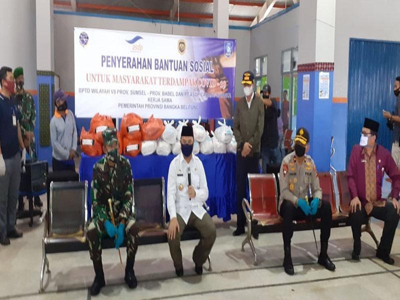 Danrem 045/Gaya Bersama Gubernur dan Kapolda Babel Pantau Aktivitas Pelabuhan Tanjung Kalian Muntok