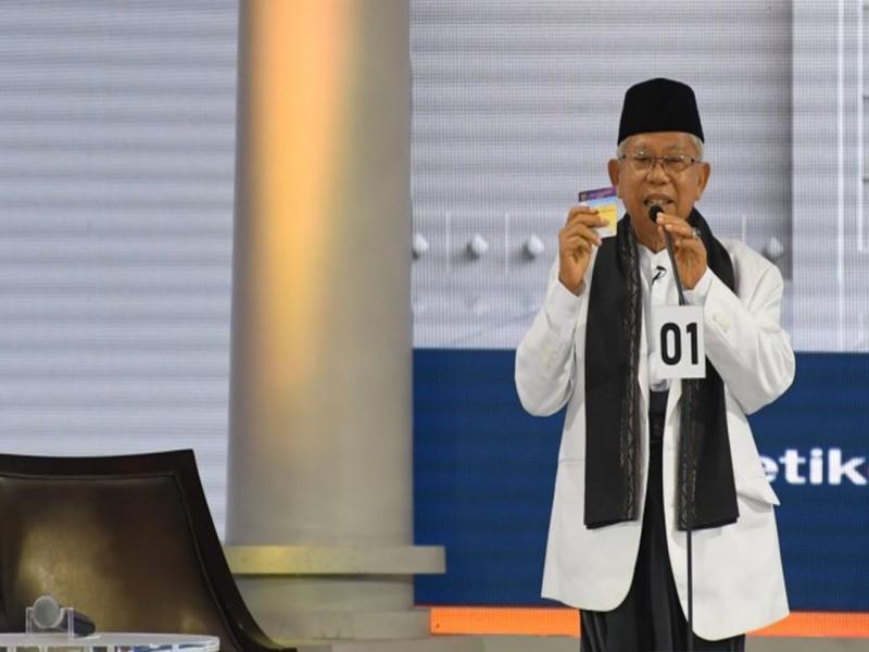 Debat Cawapres: Ma'ruf Amin Ingin Manusia Indonesia Sehat, Cerdas, Produktif, Berakhlak Mulia