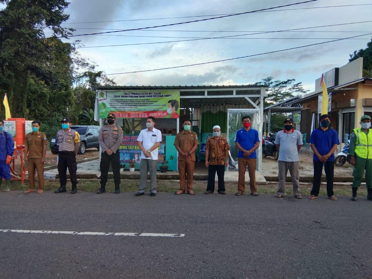 Desa Melabun Ditunjuk Sebagai Role Model Kampung Tegap Mandiri Covid 19