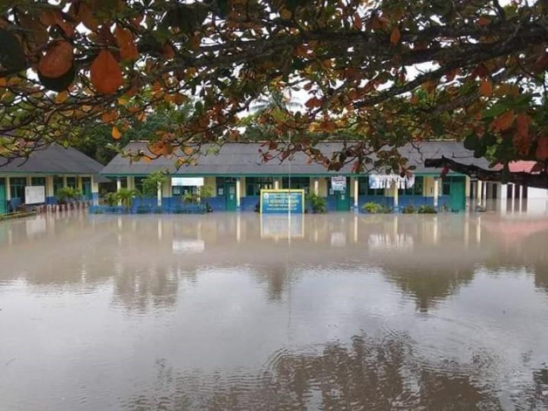 Diguyur Hujan Deras, SD Negeri 6 Deniang Terendam Banjir