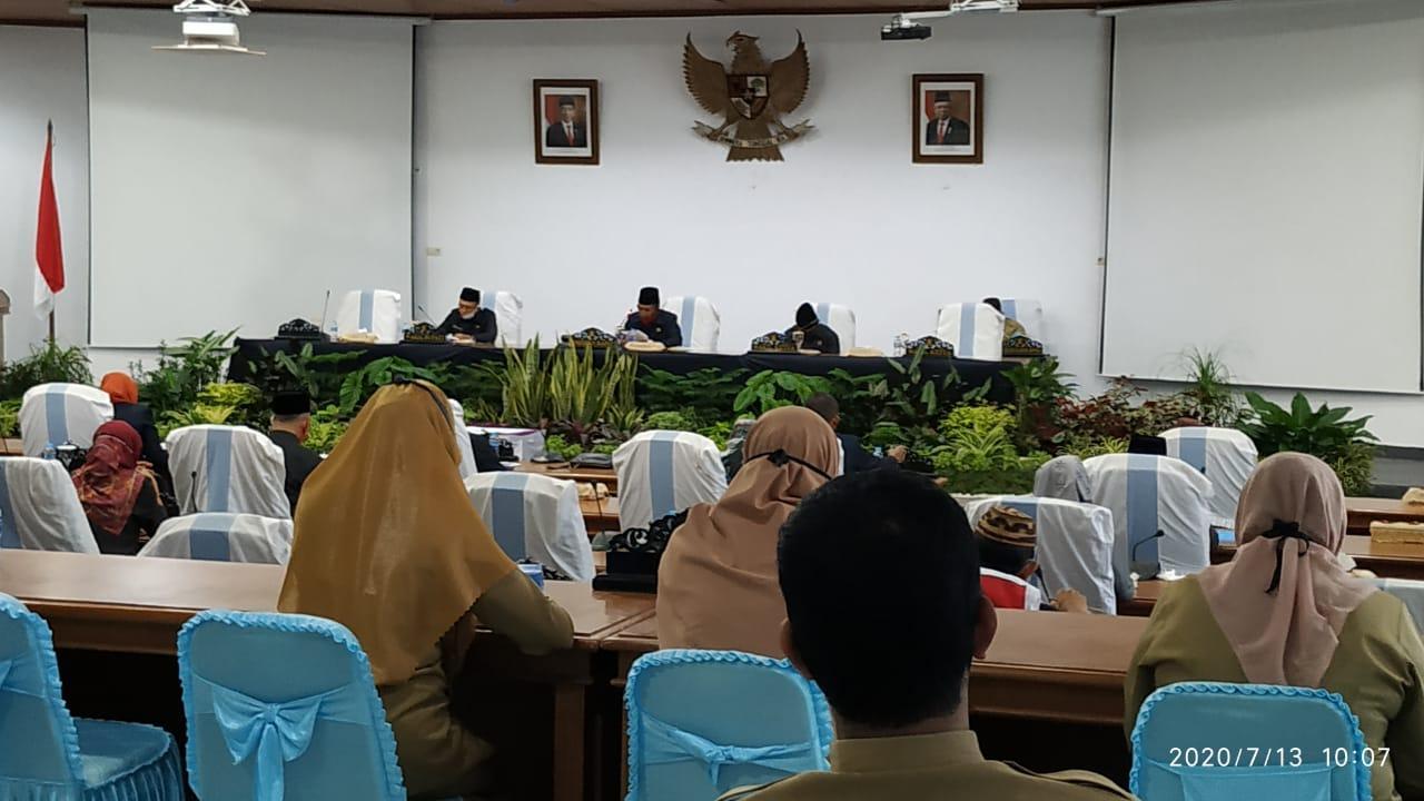DPRD Bangka Gelar Paripurna Pengesahan Raperda Pelaksanaan APBD Tahun 2019