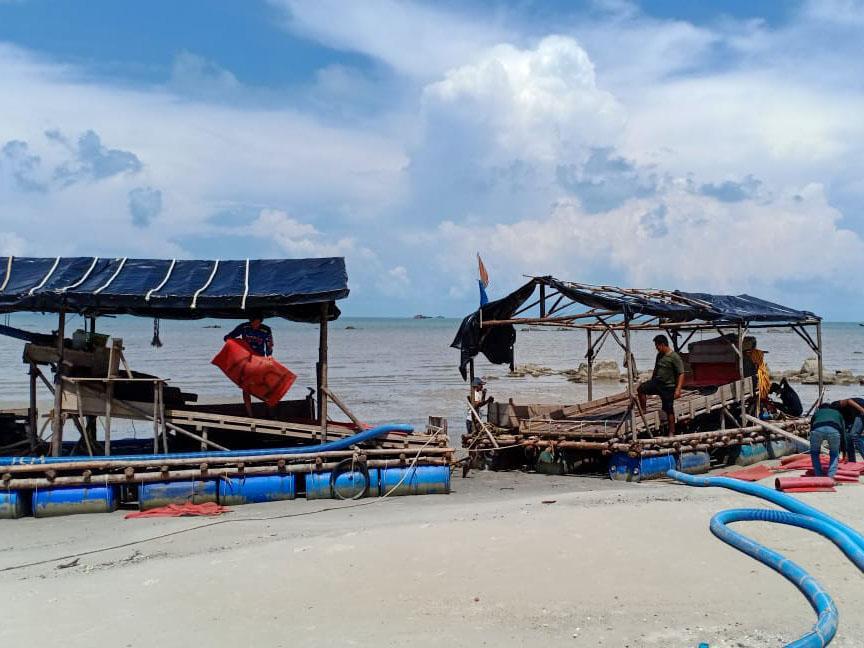 Dua Tersangka Pemilik TI Ilegal di Perairan Sukadamai Ditahan Sejak 28 April Lalu