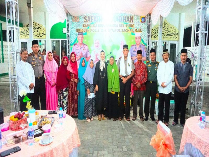 Foto-foto Safari Ramadhan Kapolda Babel di Muntok