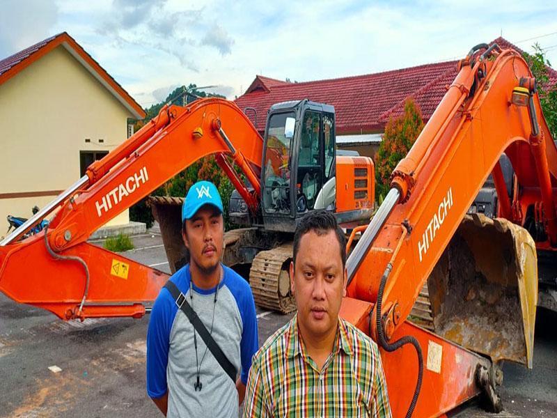 Garap HP Tanpa Izin, Polres Basel Amankan Dua Unit Ekskavator di Dusun Kelidang