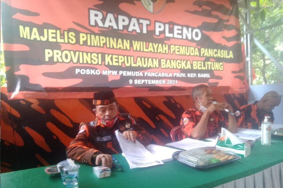 Gelar Rapat Pleno, Demi Resmi Menjabat Plt Ketua MPW PP Babel