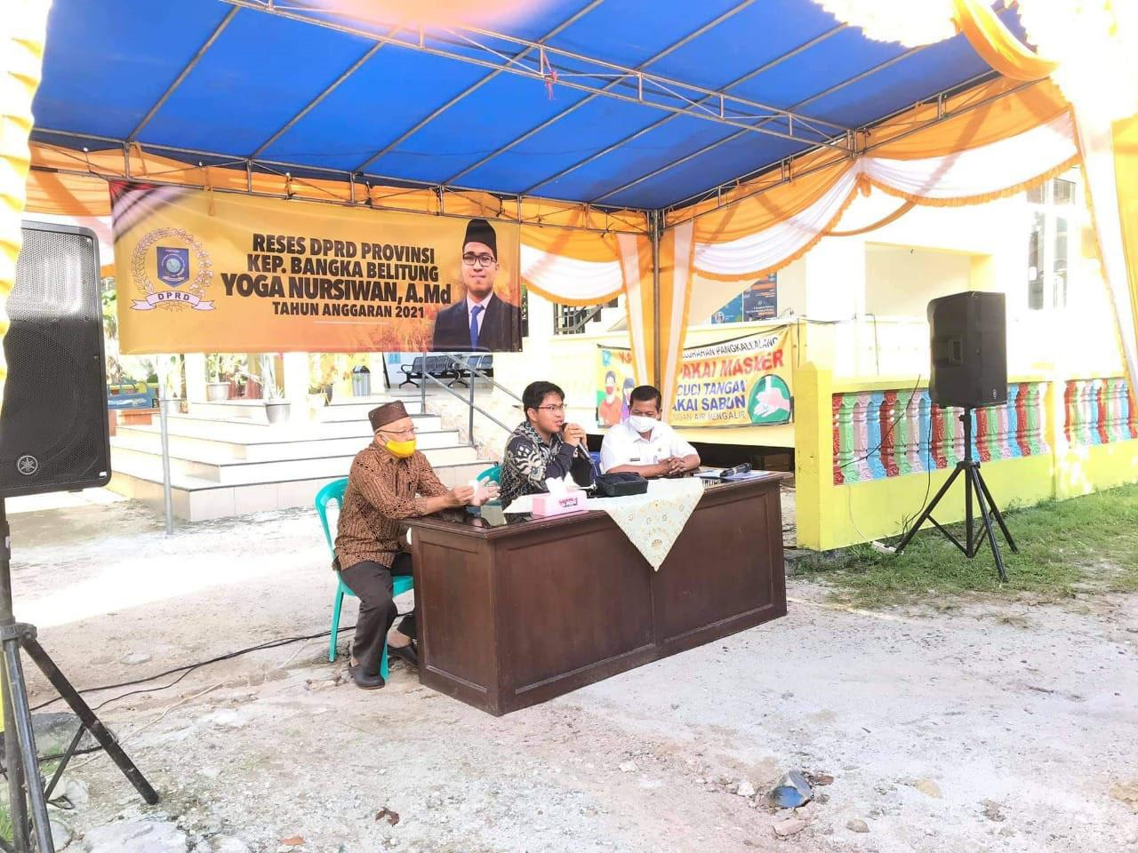 Gelar Reses, Politisi Golkar Yoga Nusirwan Sambut Aspirasi Masyarakat Belitung