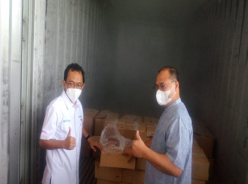 Gubernur Babel dan Dirut PT BGR Logistics Resmikan Mobile Cold Storage Pangkalpinang