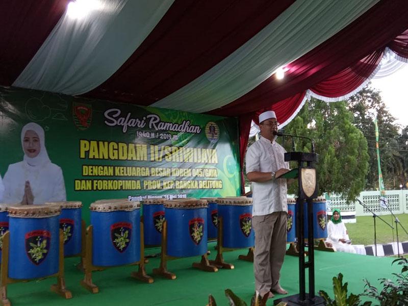 Gubernur Erzaldi Berharap Ramadhan Menjadi Momen Merajut Persatuan