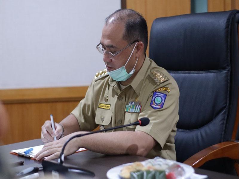 Gubernur Erzaldi Mendengarkan Paparan Program Jaminan Sosial untuk PHL Pemprov Babel