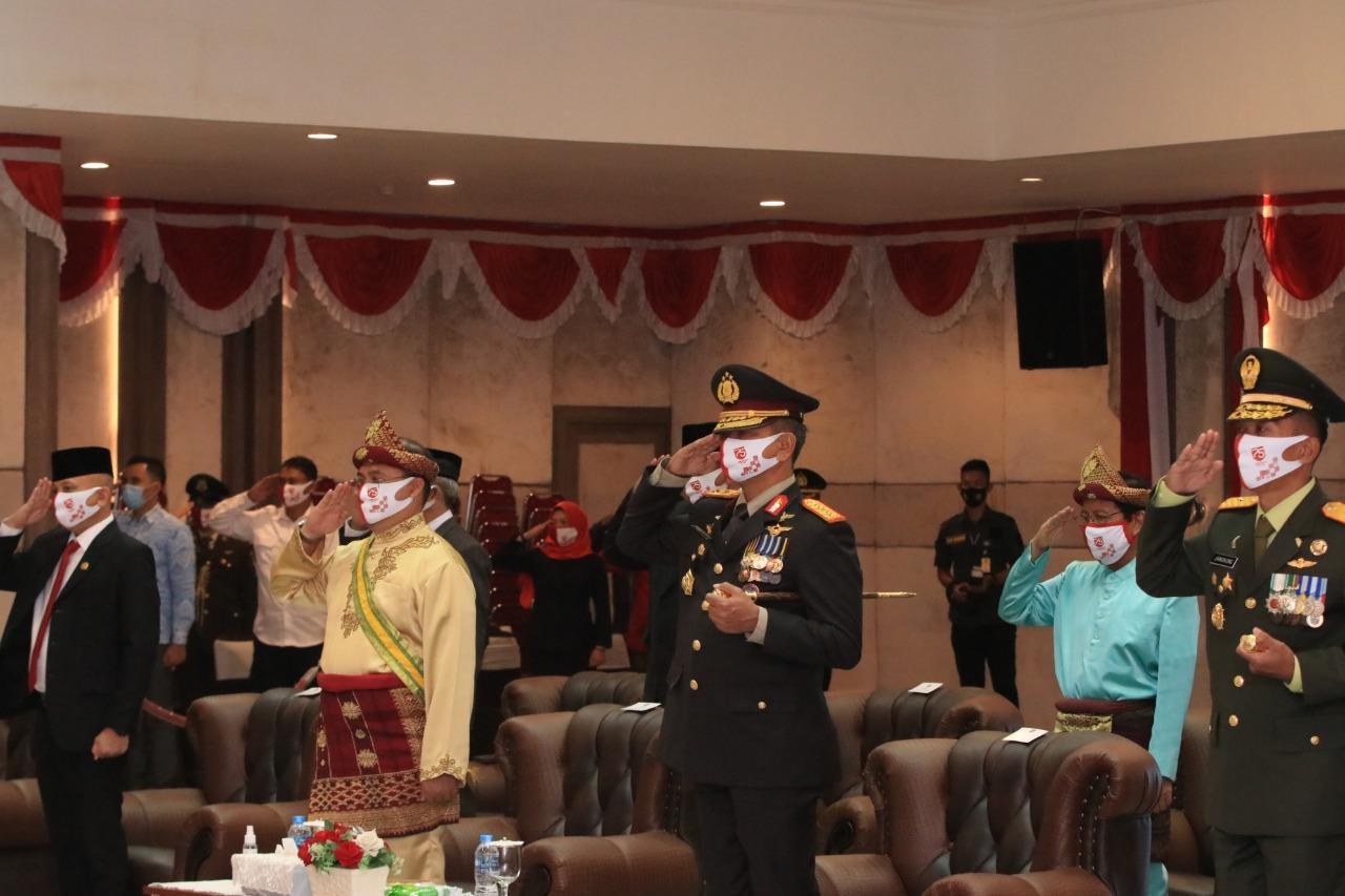 Gubernur Erzaldi Hadiri Upacara Virtual Peringatan HUT Republik Indonesia ke- 75