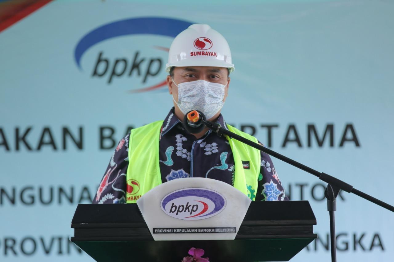 Gubernur Erzaldi Meletakan Batu Pertama Pembangunan Kantor Perwakilan BPKP Babel