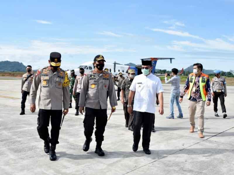 Gubernur Erzaldi Sambut Kedatangan Kabarhakam Polri Komjen Pol Agus Andrianto