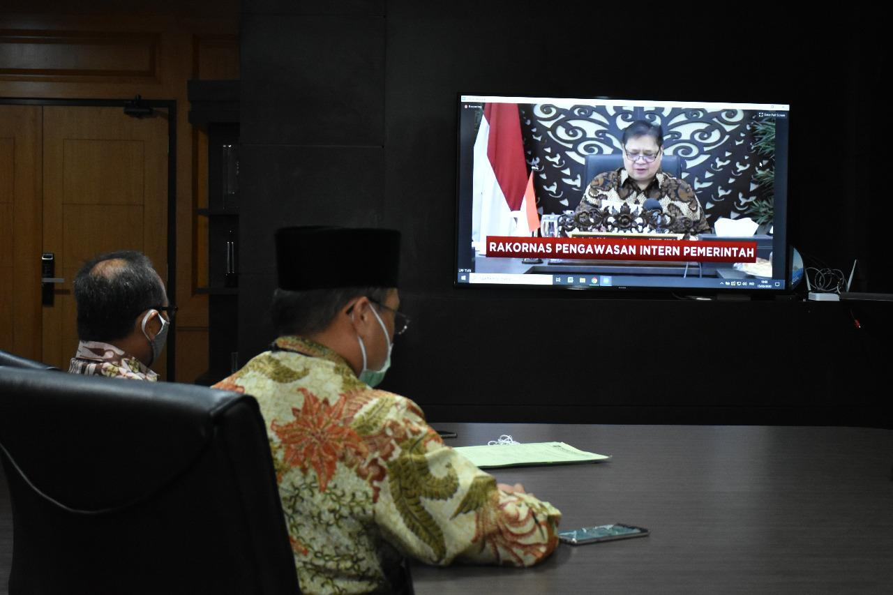 Gubernur Ikut Rakornas Pengawasan Intern Pemerintah 2020, Presiden Sebut Alokasi Untuk Covid Rp 677 T