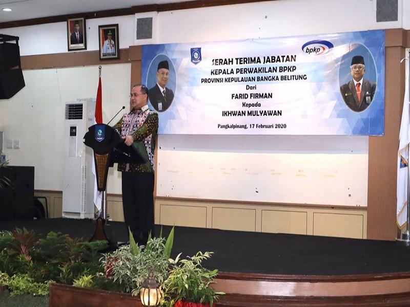 Hadiri Sertijab Kepala Perwakilan BPKP Babel, Gubernur Erzaldi Rosman Sampaikan Harapannya