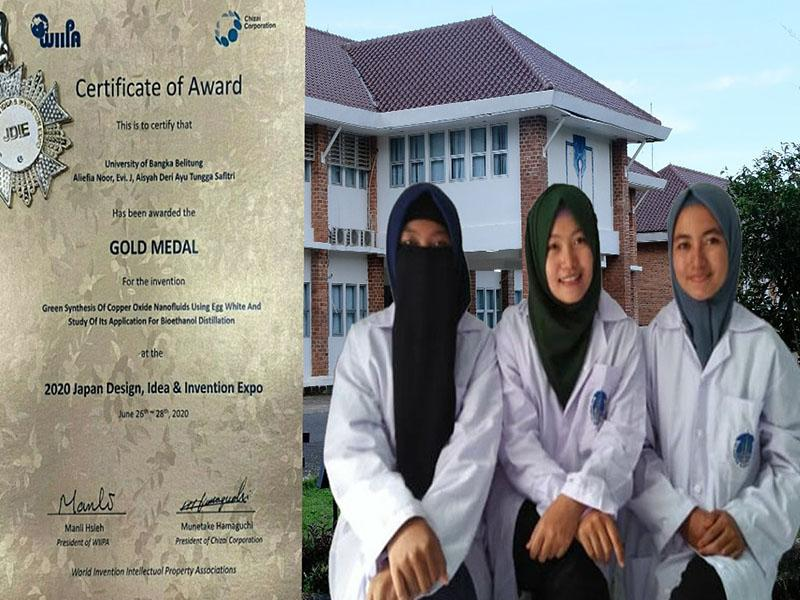 Harumkan Nama Indonesia, Tiga Srikandi UBB Raih Gold Medal di Ajang JDIE 2020
