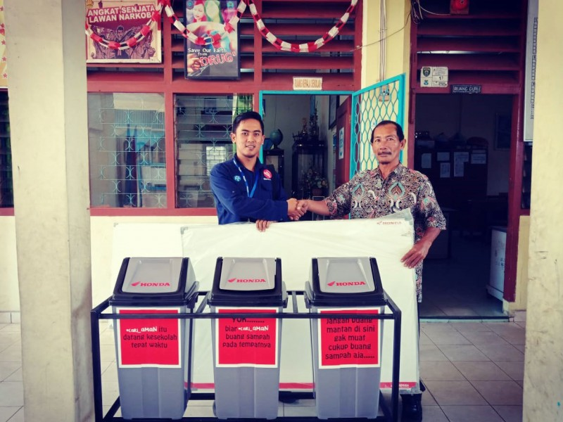 Honda Donasikan Infrastruktur di SMA Depati Amir Pangkalpinang