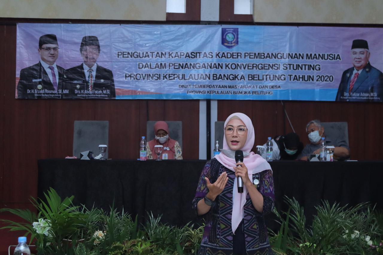 Ibu Melati Sampaikan Apresiasi Kepada Kader Pembangunan Manusia di Belitung