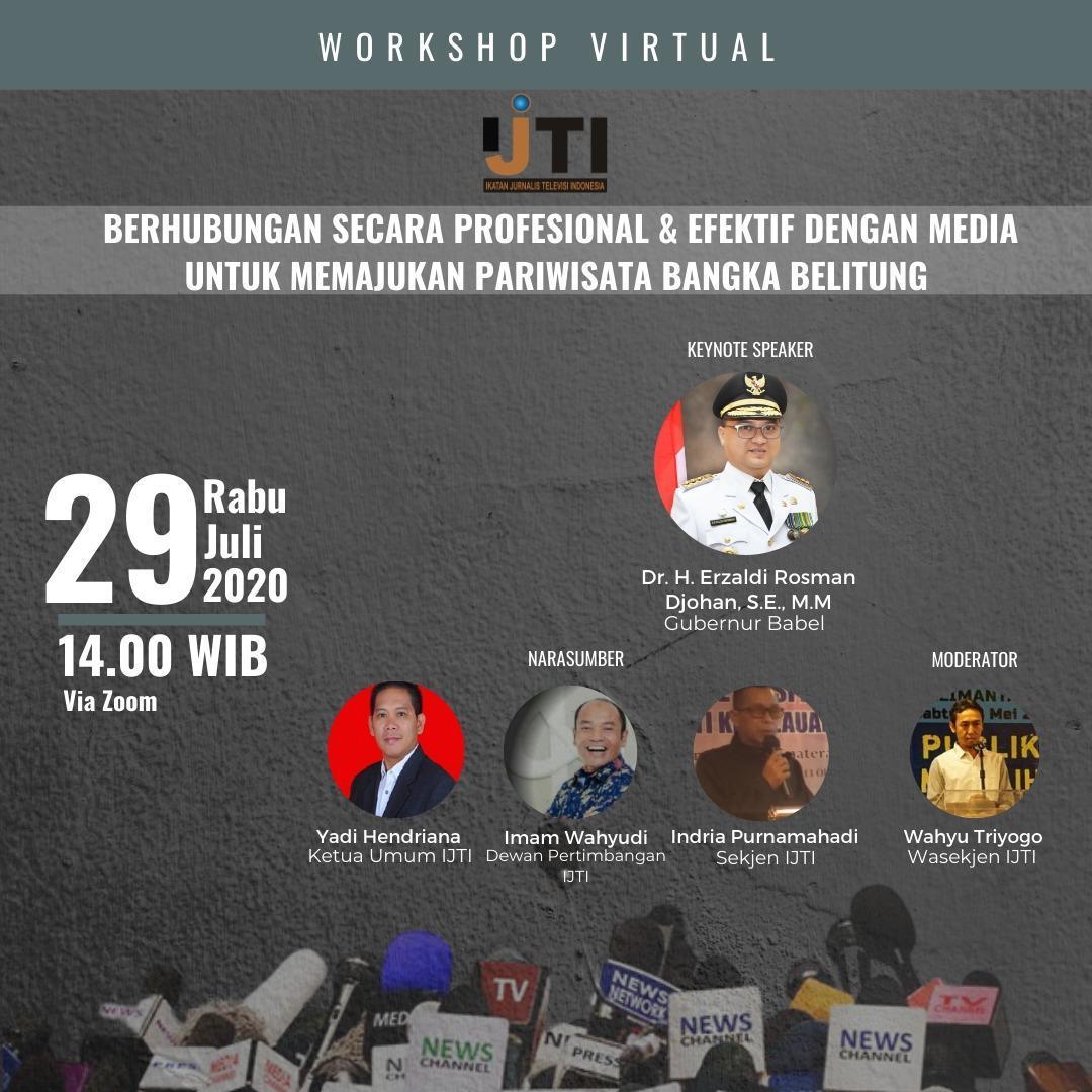 IJTI Akan Gelar Workshop Media Handling di Bangka Belitung
