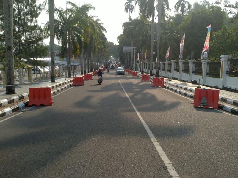 Jalan Depan Rumah Dinas Walikota Pangkalpinang Dilarang Parkir