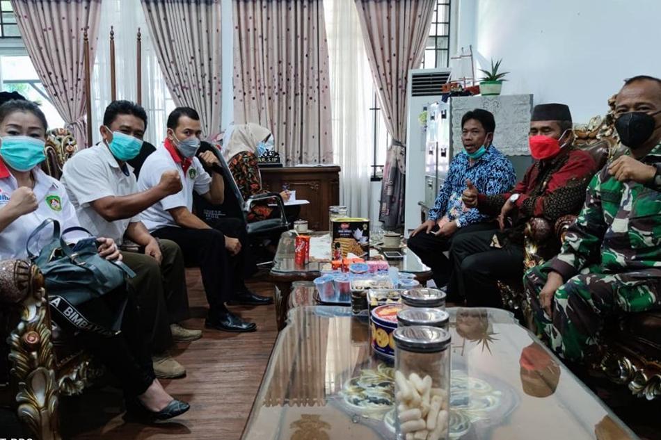 Jelang Pelantikan, Pengurus Pertina Bangka Periode 2021-2024 Kunjungan Ke Ketua DPRD Bangka
