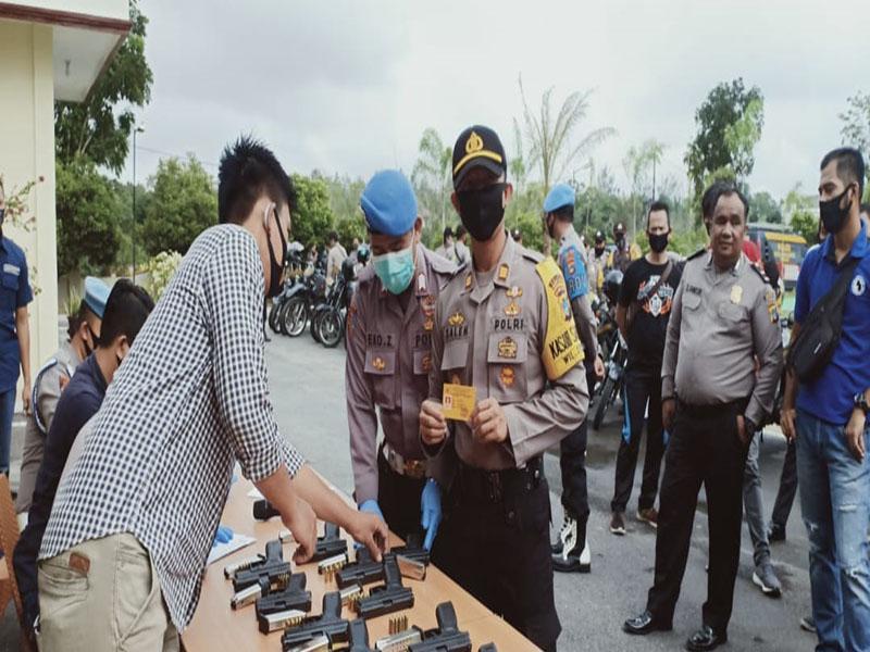 Jelang Pilkada 2020, Polres Bangka Barat Periksa Senpi dan Ranmor Anggota