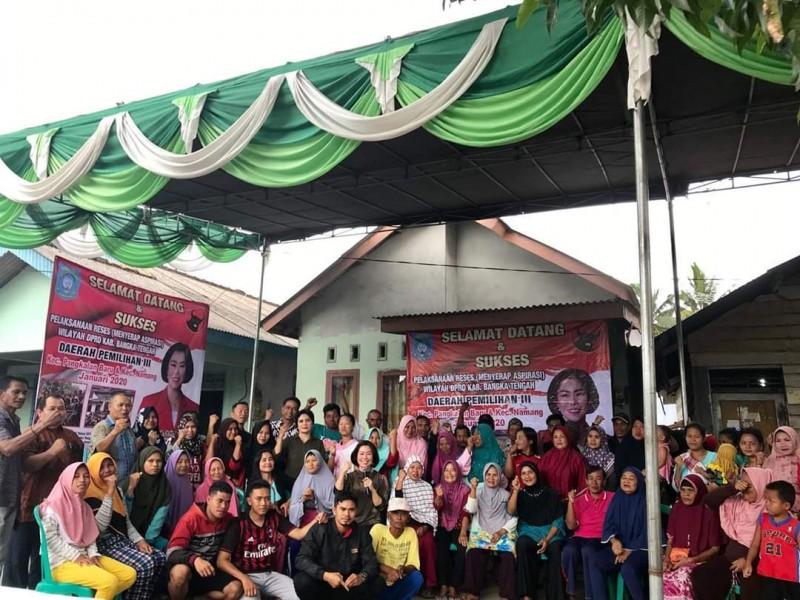 Jemput Aspirasi Masyarakat, Ketua DPRD Bangka Tengah Gelar Reses Perdana