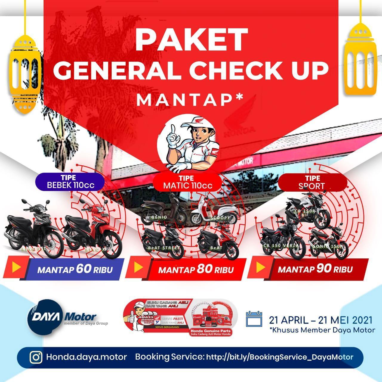 Kabar Gembira, Ada Paket General Check Up Mantap di Daya Motor Belitung