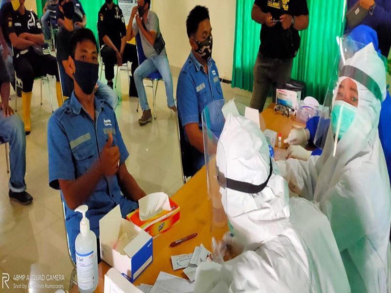 Karyawan dan Pekerja Outsourcing PT. Timah di Toboali Ikut Rapid Test