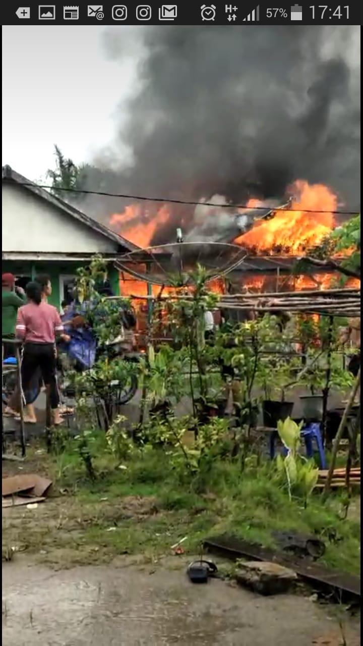 Kebakaran di Pangkalbuluh Bangka Selatan, Satu Rumah Ludes