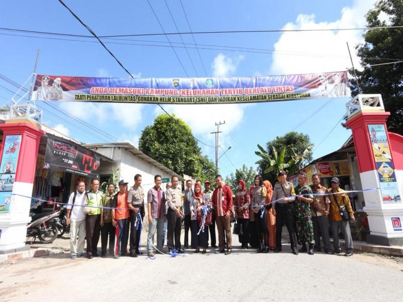 Kelurahan Sri Menanti Sungailiat Ditetapkan sebagai Kampung tertib Berlalu Lintas