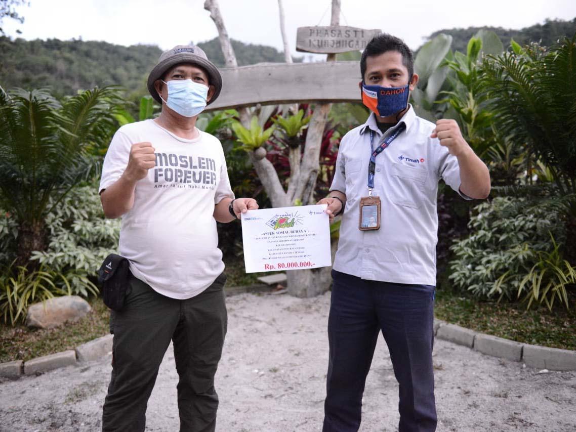 Kembangkan Pariwisata Bukit Pinteir, PT Timah Bangun Sarana dan Prasarana
