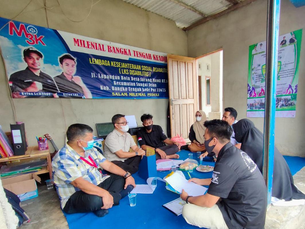 Kemensos RI Akreditasi LKS Lansia dan LKS Disabilitas di Bangka Tengah