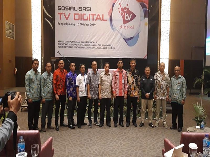 Kementerian Kominfo RI Bersama KPID Babel Sosialisasi Televisi Digital