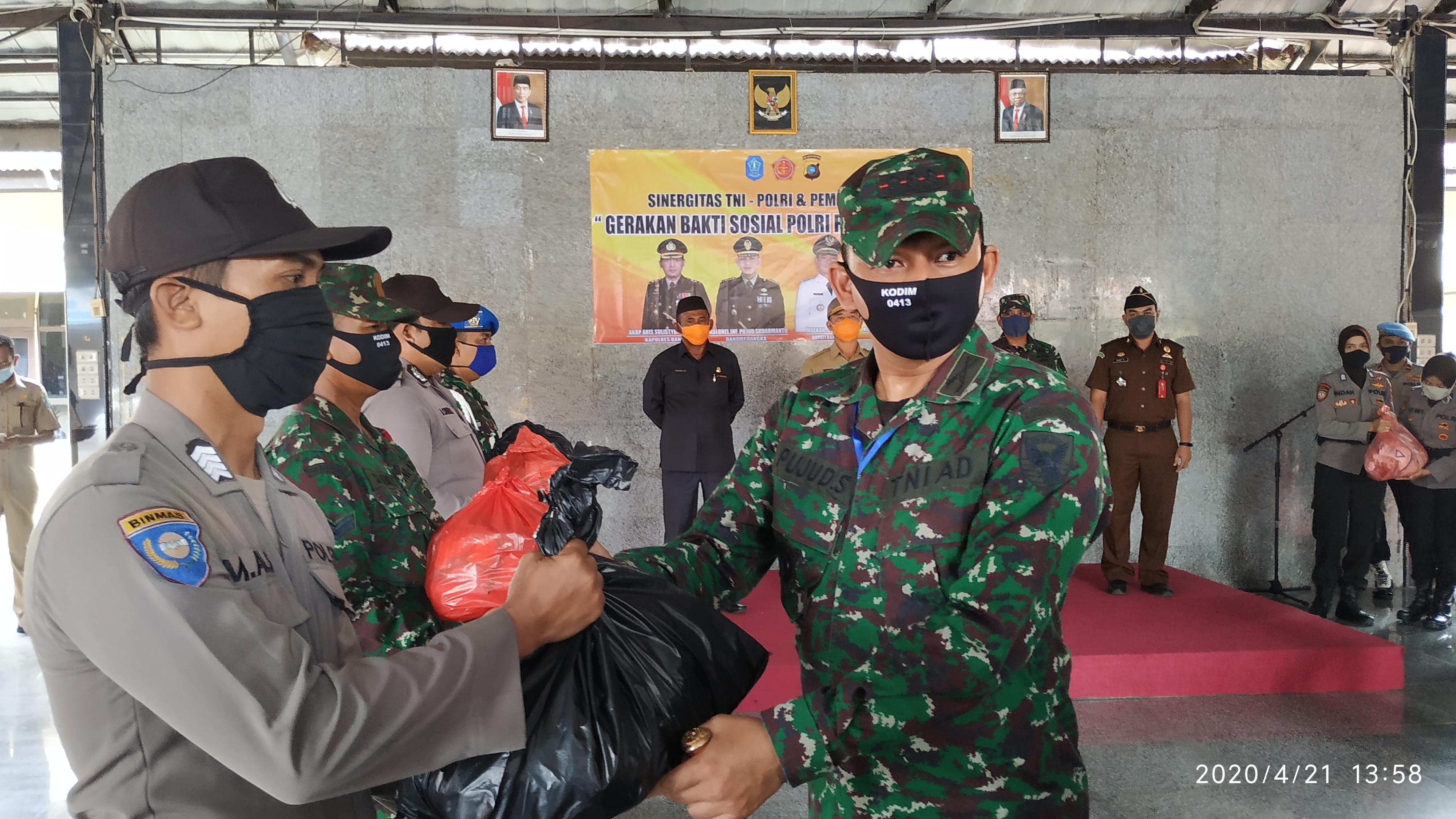 Kolonel Inf Pujud Sudarmanto : Pembagian Sembako Harus Tepat Sasaran