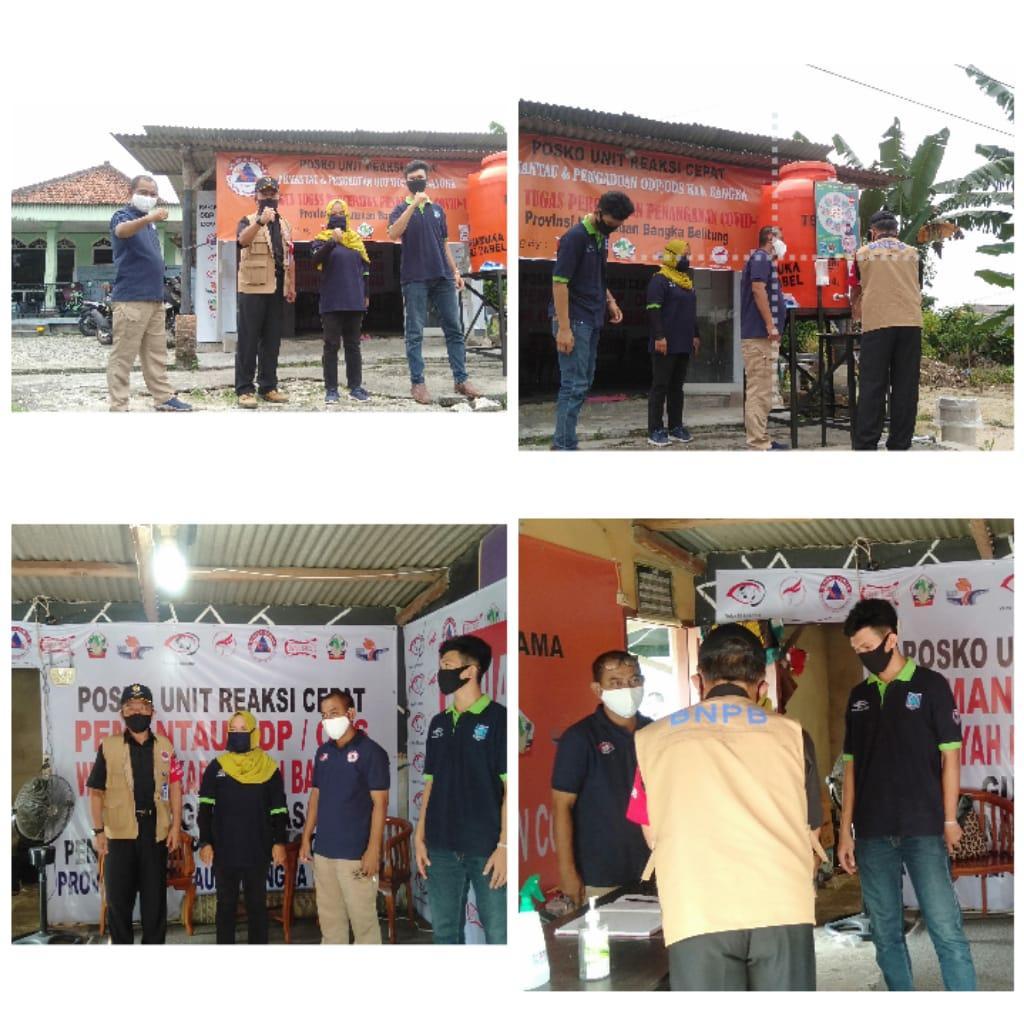 LO BNPB Pusat Kunjungi Posko Pemantau ODP/ODs Wilayah Kabupaten Bangka
