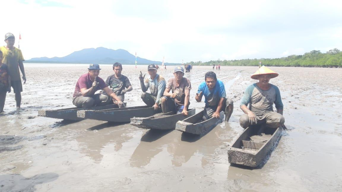 Lomba Betungkah Desa Pangkal Niur Berjalan Sukses, Di Tengah 'Pandemi' Tambang Laut Illegal